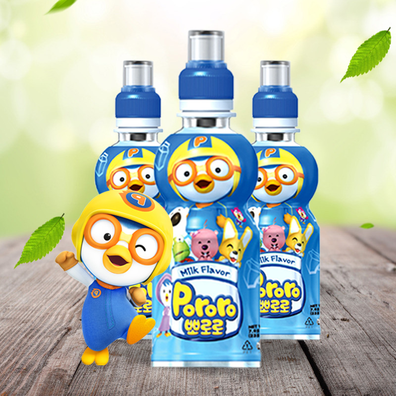 South korea imported treasure lulu boo lele children drink flavored milk drink fruity drinks 235 ml