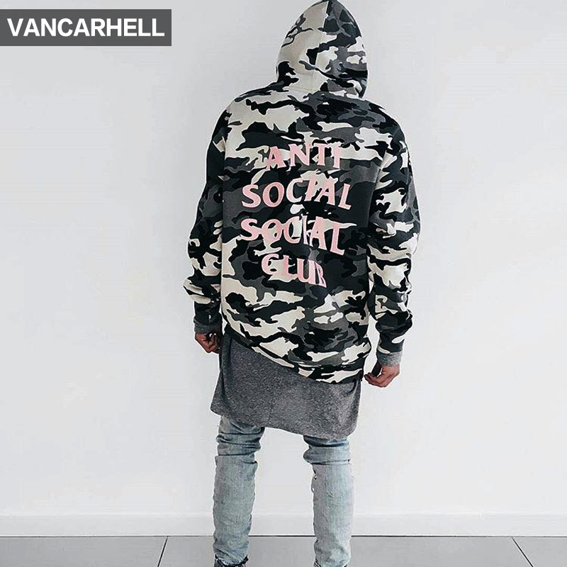 South korea wind anti social high street camouflage hooded sweater lovers hoodies kanye kanye ass male and female models c