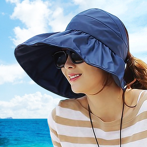 South korean foldable hat sun hat sun hat female sun hat dayan mao hat edge of the sea beach sun hat
