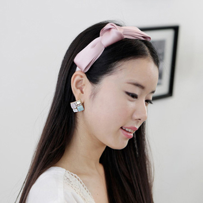 South korean lovely temperament bow hair bands headdress cloth slip headband hair accessories dish made hairpin hairpin broadside indenter