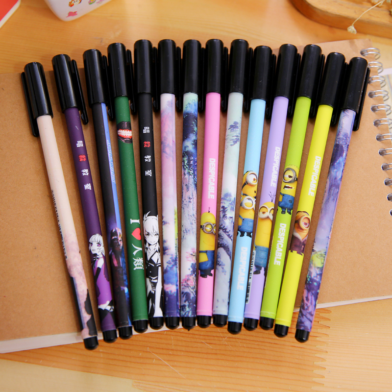 South korean stationery cute cartoon color bar water pen gel pen black pen pen stationery student
