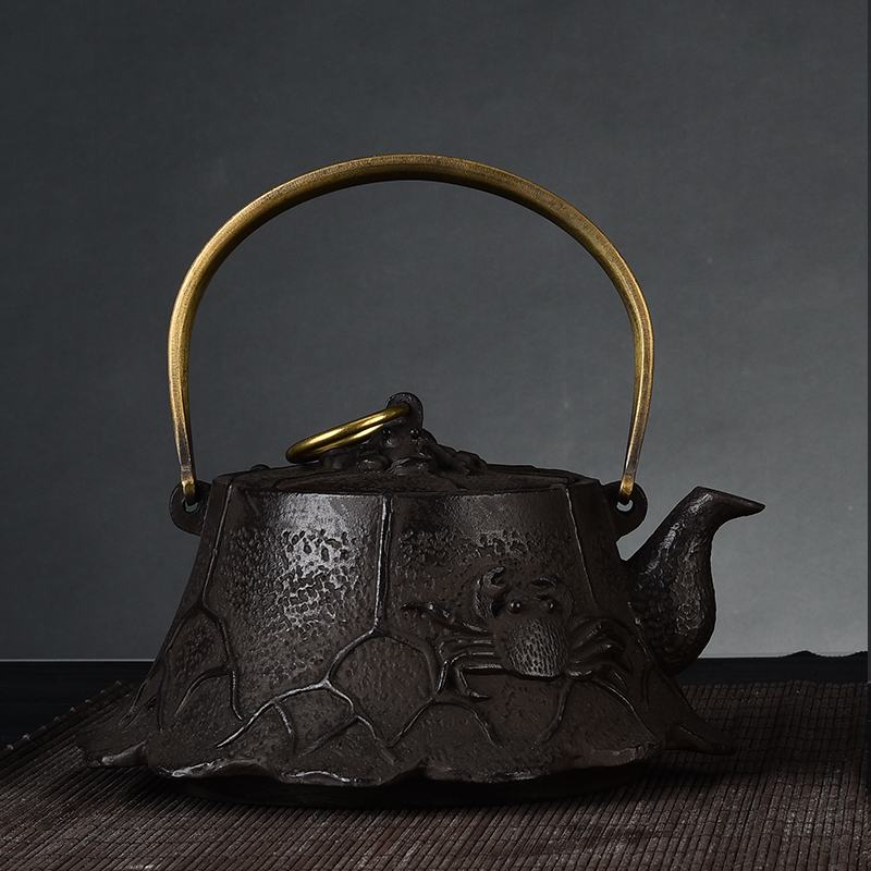 Southern iron pot uncoated cast iron teapot cast iron kettle old iron pot handmade cast iron teapot kung fu