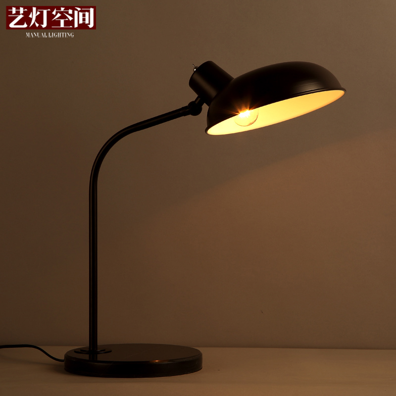 [Space] arts lamp archaized personality retro nostalgia wrought iron lamp study bedroom bedside lamp decorative lamp