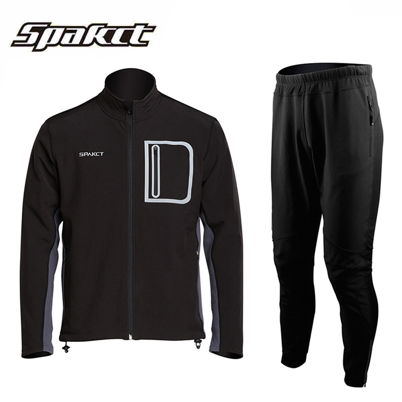 Spakct sipa off riding mountain bike in autumn and winter clothes long sleeve men and women warm windproof fleece suit