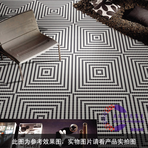 Special porcelain奥廷quality gradient black and white mosaic ceramic mosaic puzzle backdrop living room floor decoration