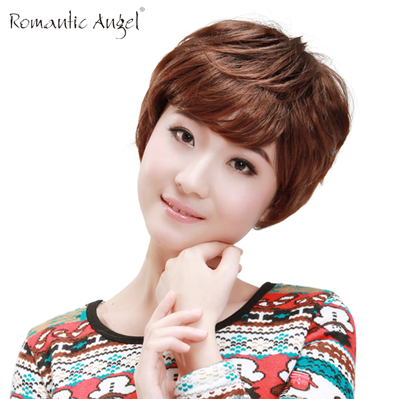 Special short hair wig handsome man with short hair wig fashion female qi oblique bangs do practice natural fluffy hair