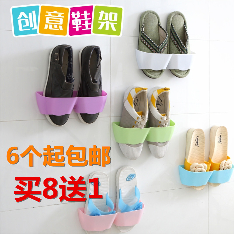 Special simple shoe shoe hanging shoe rack paste three-dimensional wall hanging wall shoe rack shoe storage device