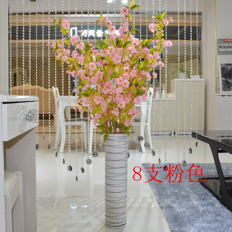 Special simulation peach cherry tree branch plum dried decorative flowers artificial flowers placed in the living room floor suite artificial flowers artificial flowers floral shipping