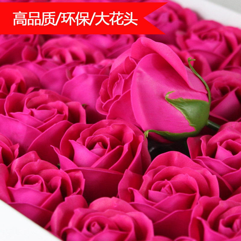 Special soap flower rose soap flower flower head florist bouquet practical marriage wedding celebration with creative gifts