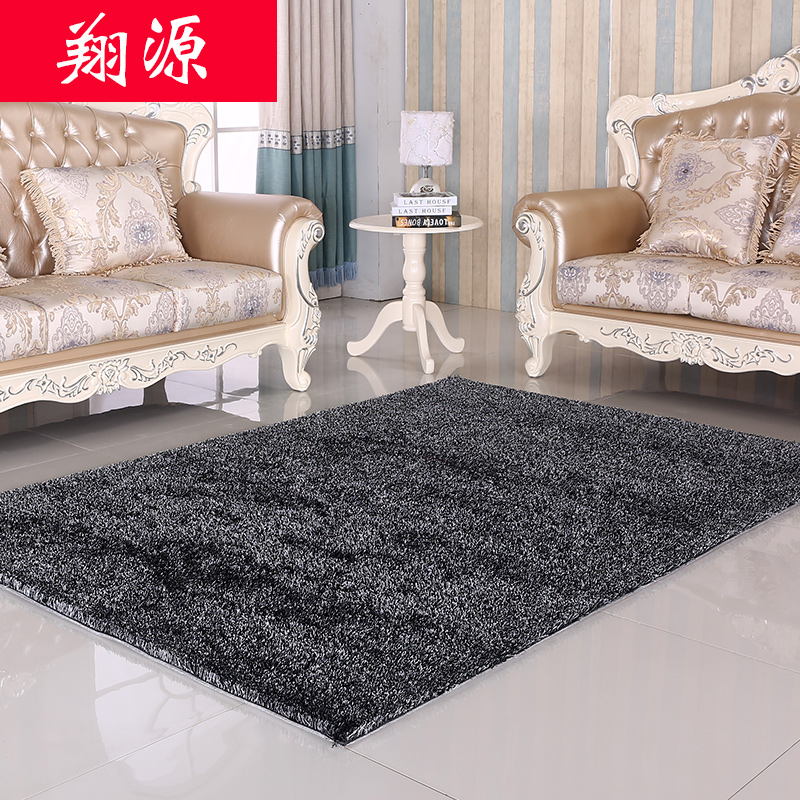 Specials korean silk liangsi encryption thick carpet living room coffee table sofa bed bedroom carpet mats can be customized
