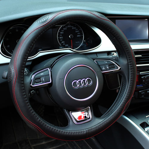 Spiritual point of leather steering wheel cover applicableäºå¨lin x5 v5 special steering wheel cover to cover leather grips
