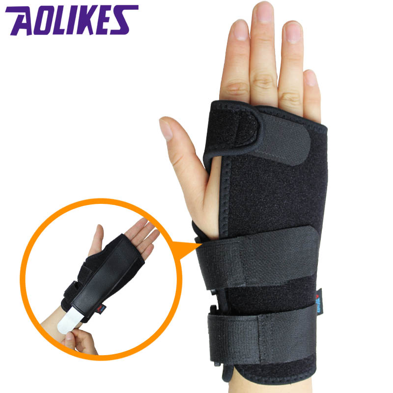 Sports wristband wrist fractures wrist guard palm sprain protective brace male ms. plate fixed support mouse hand