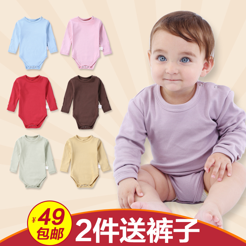 Spring and autumn and winter baby clothes summer cotton newborn baby triangle romper climbing clothing for men and women 0--3--6--12 months