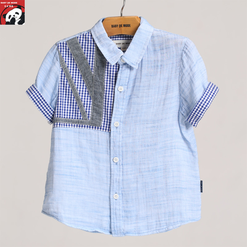 Spring and summer children's clothing [babe modern authentic] children's t-shirt children short sleeve shirt