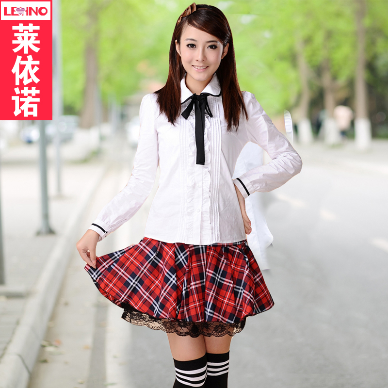 Spring and summer new japanese and korean students cotton suit korean version of college school class service japanese school uniforms girls sailor costume