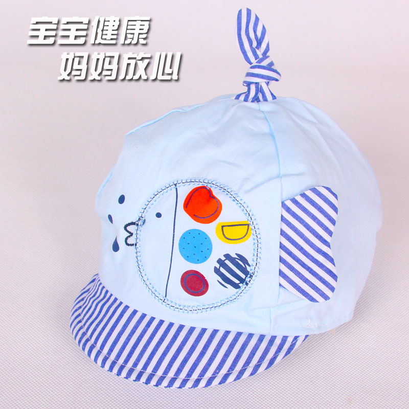 Spring and summer newborn baby hat baby hat visor hat for men and women windproof breathable baby warm cloth hat sun hat bonnet