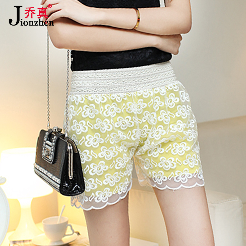 Spring and summer outer wear big yards openwork crochet lace shorts skirts korean version of the influx of women anti emptied safety pants leggings