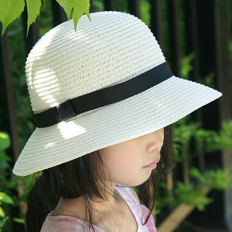 a0e8d647815 Get Quotations · Spring and summer straw hat sun hat children hat paternity  boys and girls influx of children