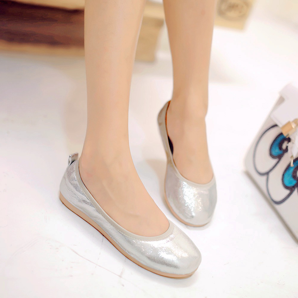 Spring korean version of casual children shoes casual shoes big virgin girls princess shoes flat shoes scoop shoes shoes high school students