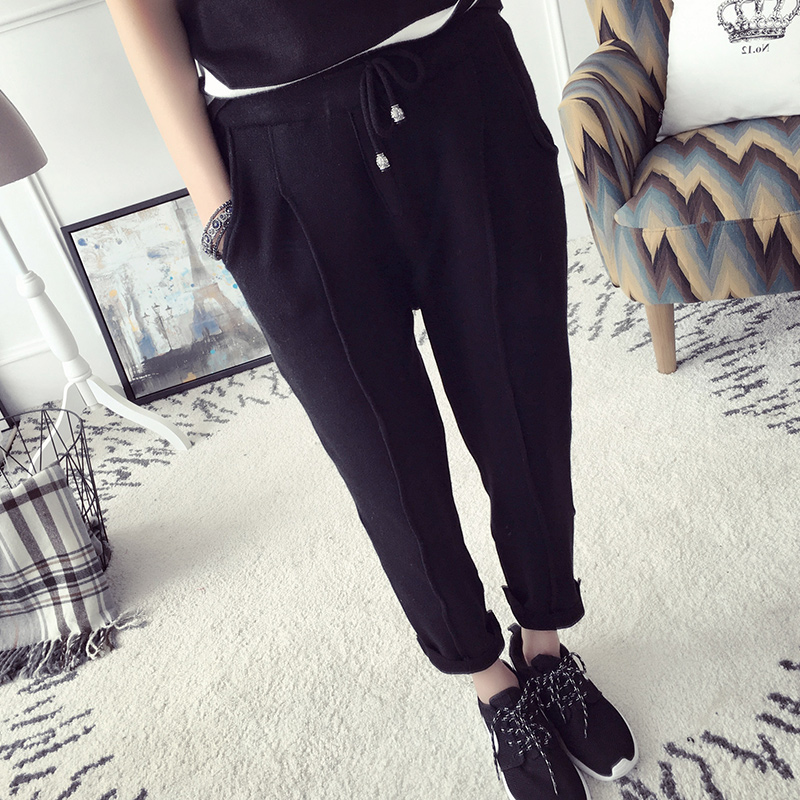 Spring korean version of casual college wind 2016 new women's pants pantyhose spring and autumn kazakhstan lun pants female new spring and summer
