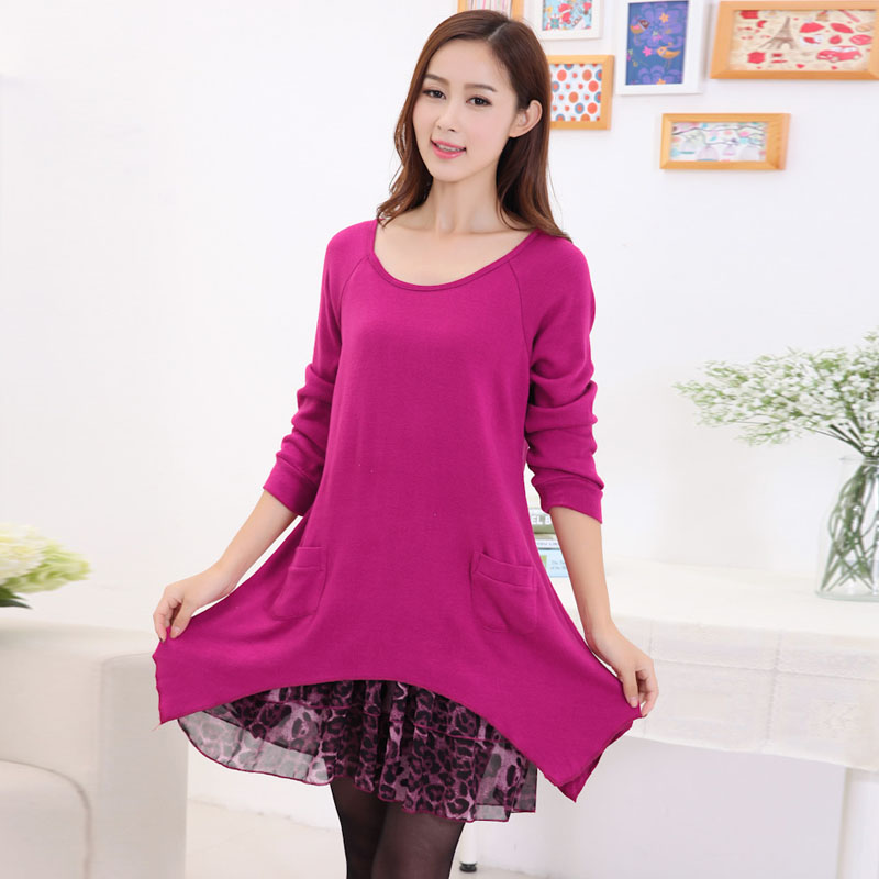 Spring section of pregnant women blouse stitching dresses for pregnant women 2016 new fashion women skirt pregnant women maternity leave two