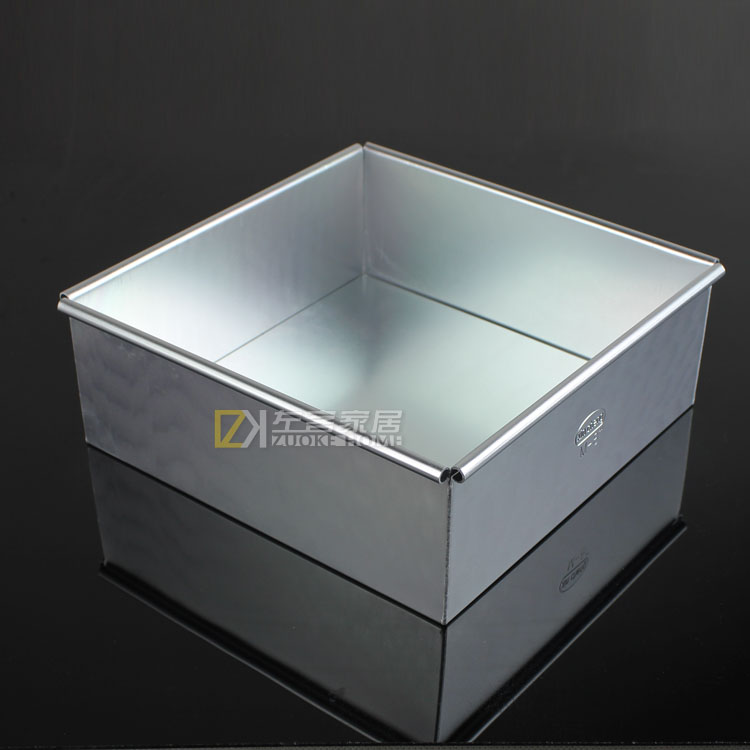 Square baking mold live bottom cake mousse ring mold aluminum alloy anode 6 \ 8 inch cake mold bread mold