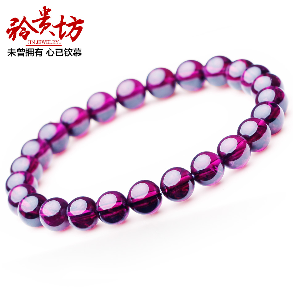 Square expansive collection level brazilian purple teeth black garnet bracelet female genuine natural semi precious stones fashion lap bracelets