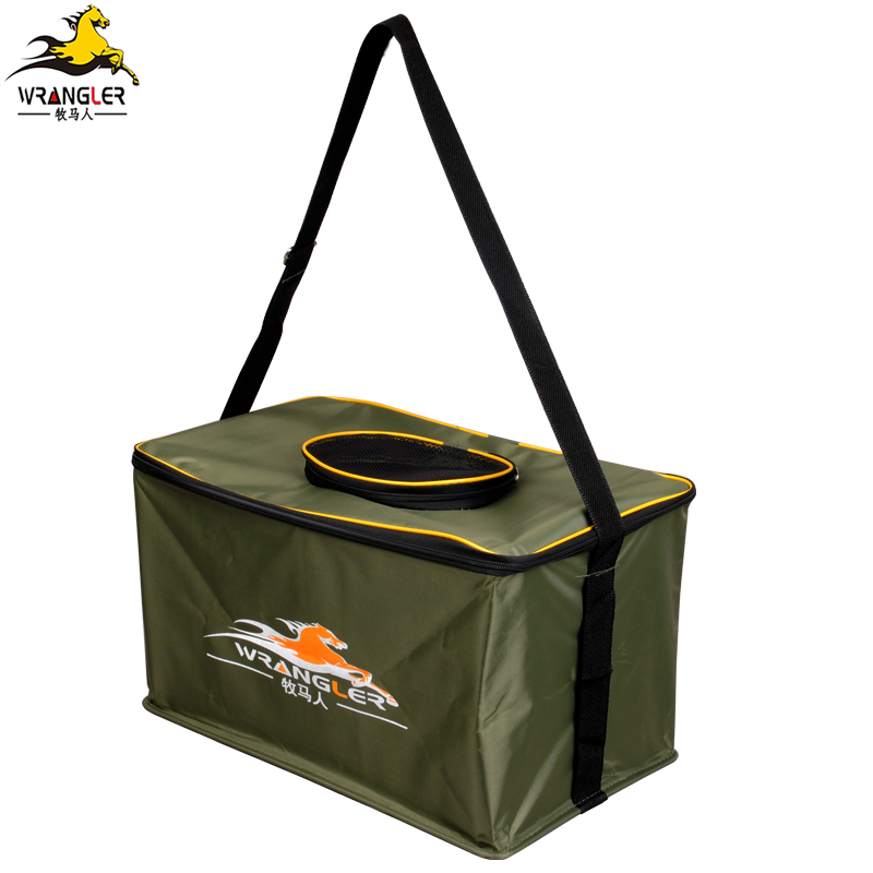 Square folding bucket fishing fish tank fish bucket to catch the fish tank water tank bucket fishing fishing gear fishing tackle fishing supplies
