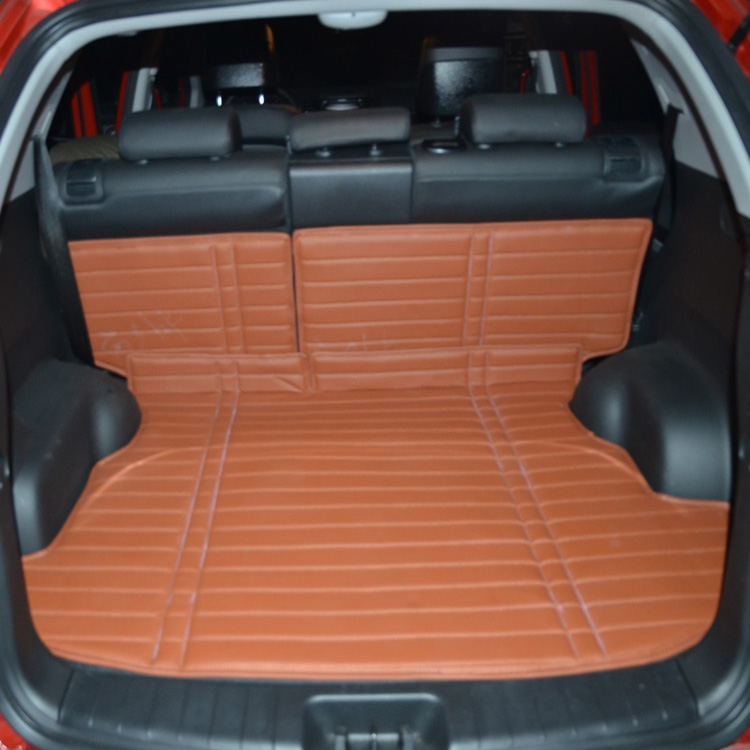 Ssangyong korando much love teng lester special folding trunk mat leather trunk with backrest environmental