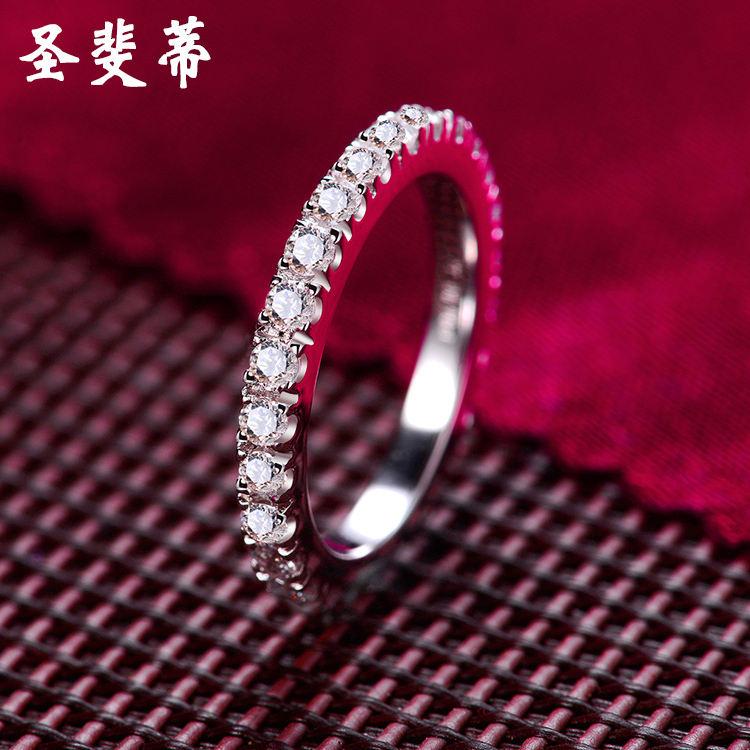 St. fei di row diamond ring female pinky finger ring tail ring simulation diamond thin jane about jewelry to send valentine gifts