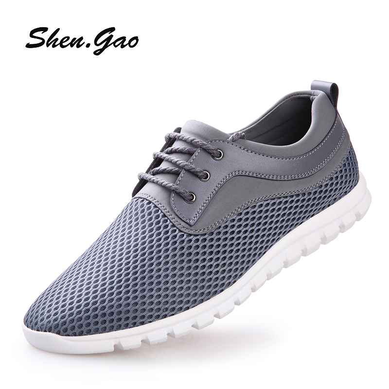 St. high summer new mesh mesh shoes 2016 increased wear and breathable mesh men's everyday casual lace shoes