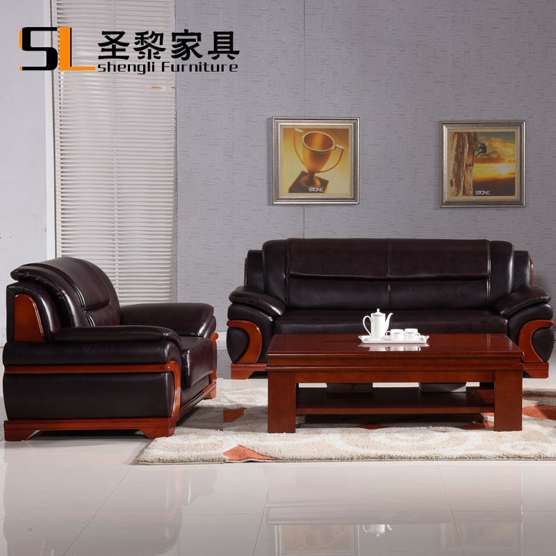 St. li household manager's office to discuss the reception parlor sofa leather office sofa table combination 2026