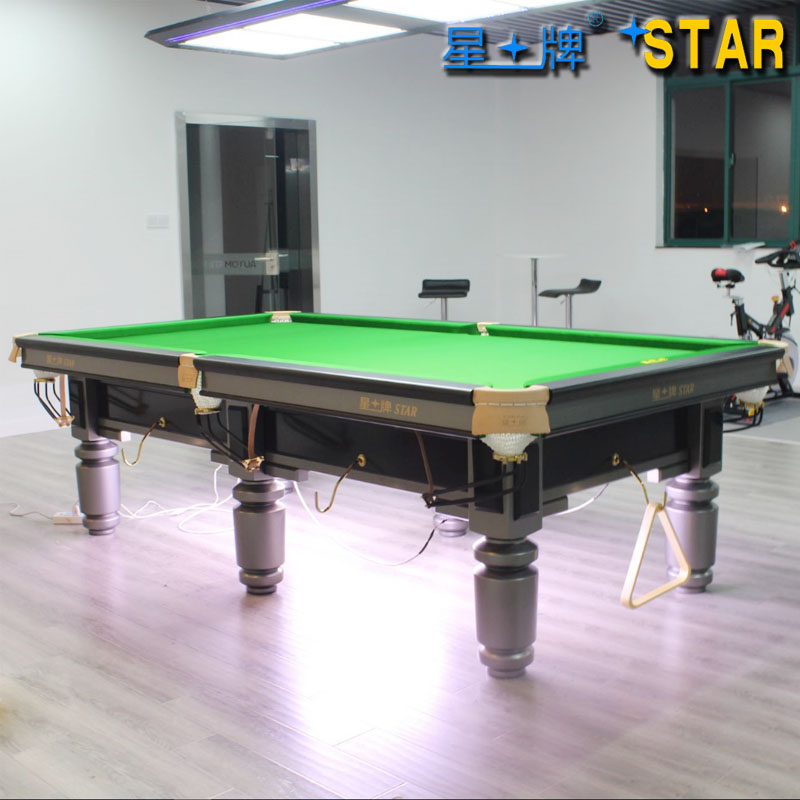 Star brand pool tables xw111-9a standard adult home club 16 billiards american black 8 ball pool table
