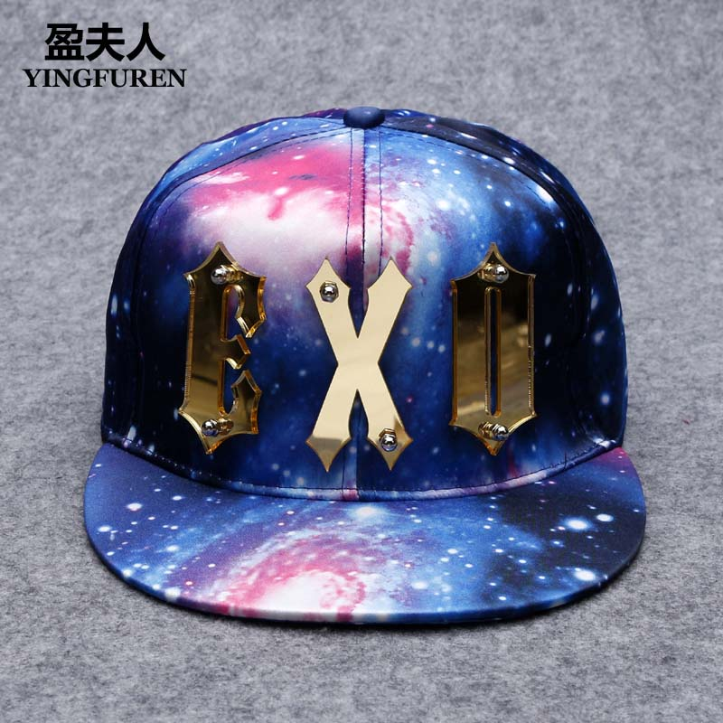 Get Quotations · Star hat hat male hip-hop hat flat brimmed hat cap male hat  millinery tide 6bfe2987c6ef