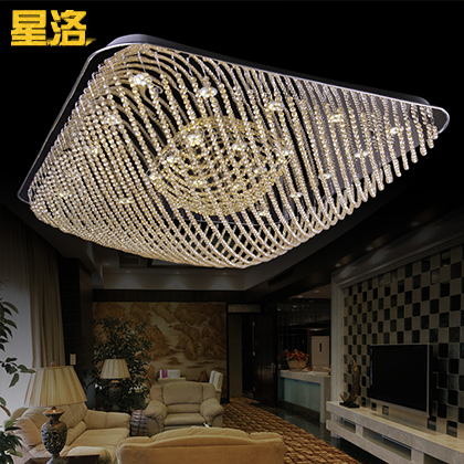 Star los modern minimalist fashion square led crystal ceiling lamps living room lamp bedroom lamp lighting dining hall 6653