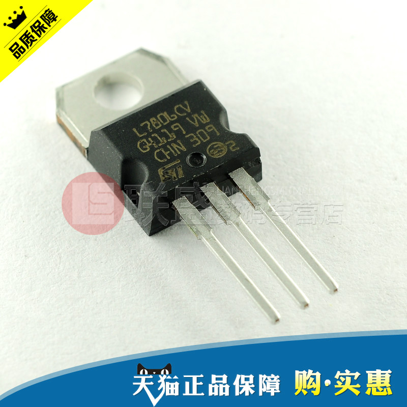 Star power micro | l7806cv to-220 st 7806 three terminal regulator chip (5 rats)
