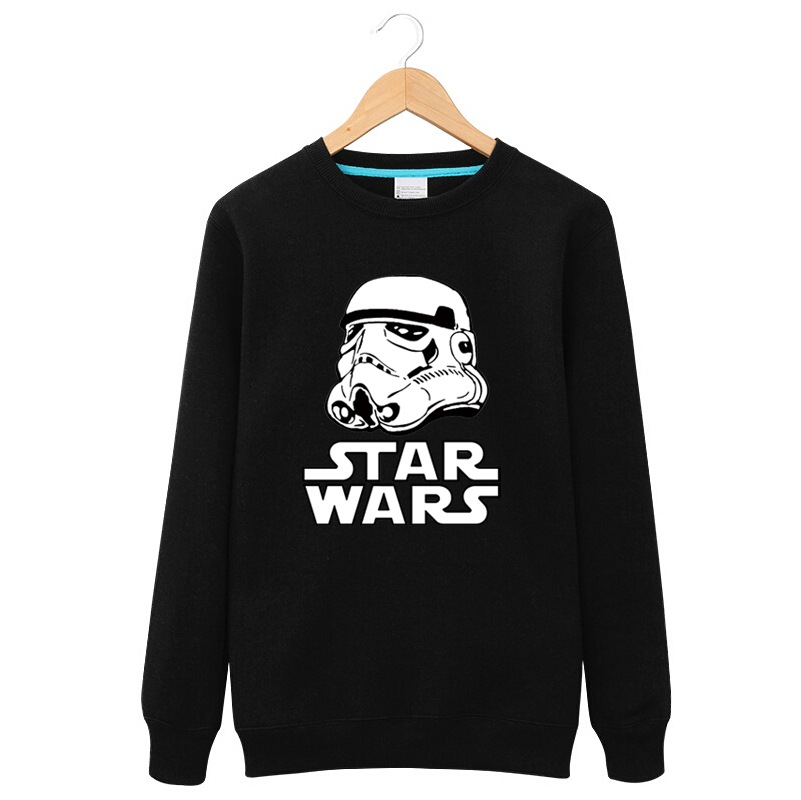 Star wars same paragraph clothes in spring and autumn clothes coat spring and autumn thin section round neck sweater printing large size male models plus