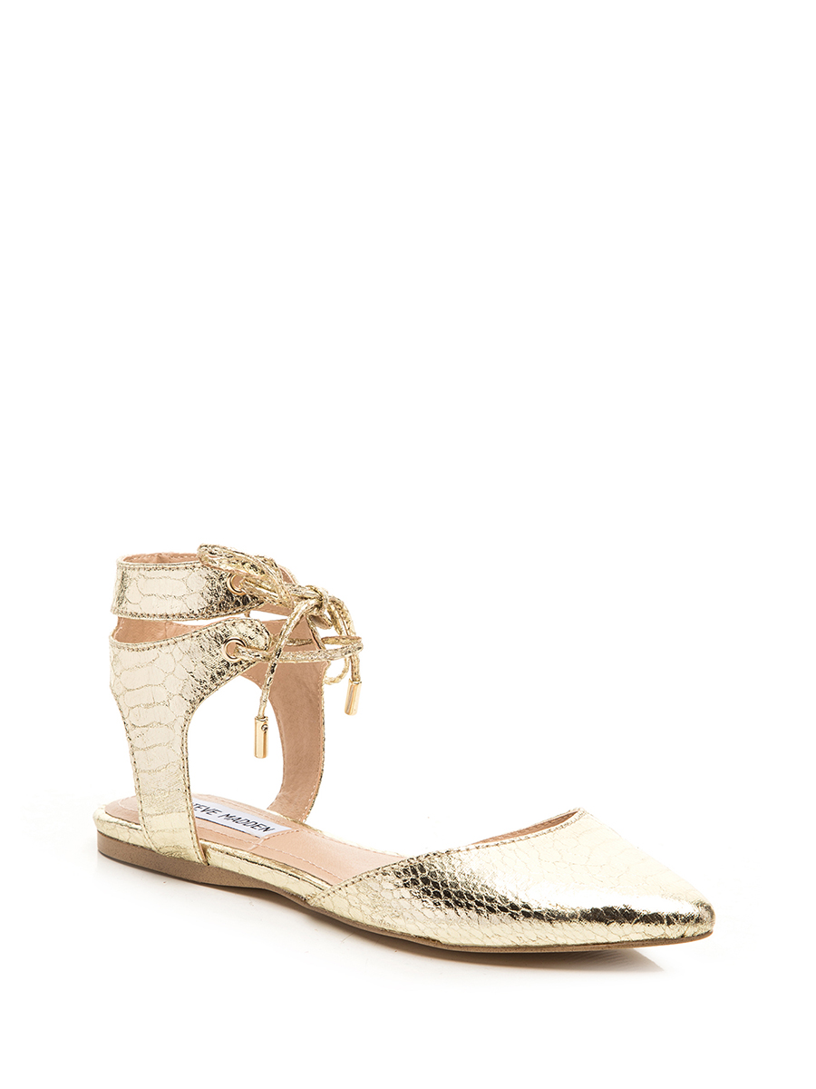 Steve madden/simei gordon golden lace hollow pointed sandals