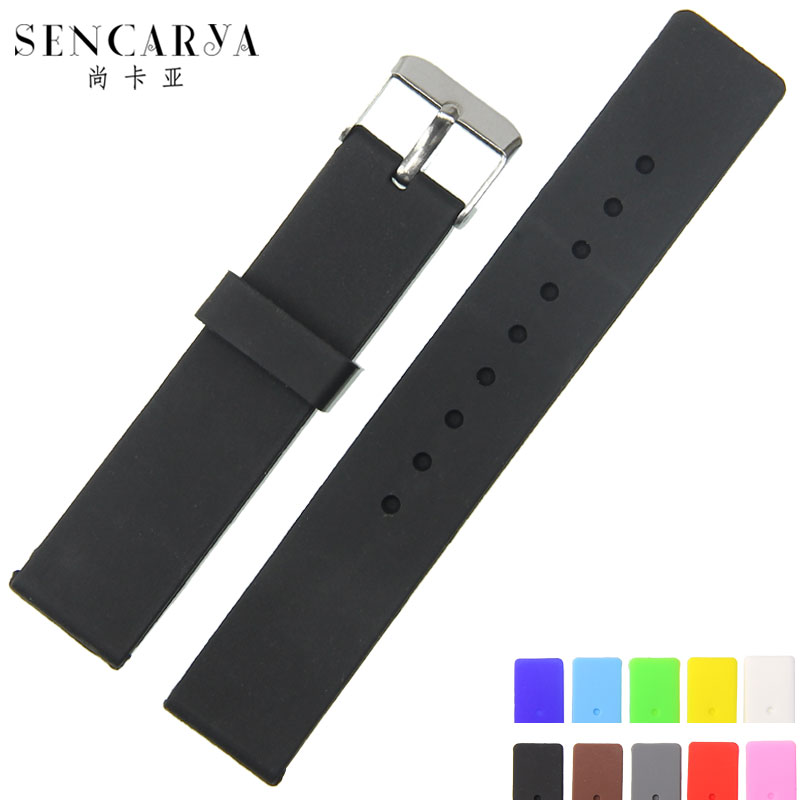 Still kaya universal silicone soft resin waterproof rubber watch band 12 | 14 | 16 | 18 | 20 | 22 | 24mm