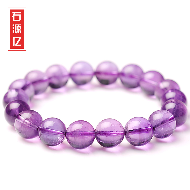 Stone sources billion natural deep purple color crystal bracelets lap amethyst violet amethyst bracelet jewelry for men and women