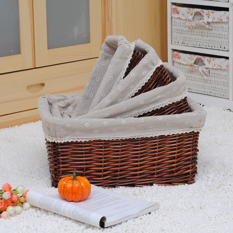Storage baskets rattan storage basket of dirty clothes basket willow storage baskets wicker rattan baskets kitchen snacks miscellaneous things glove box