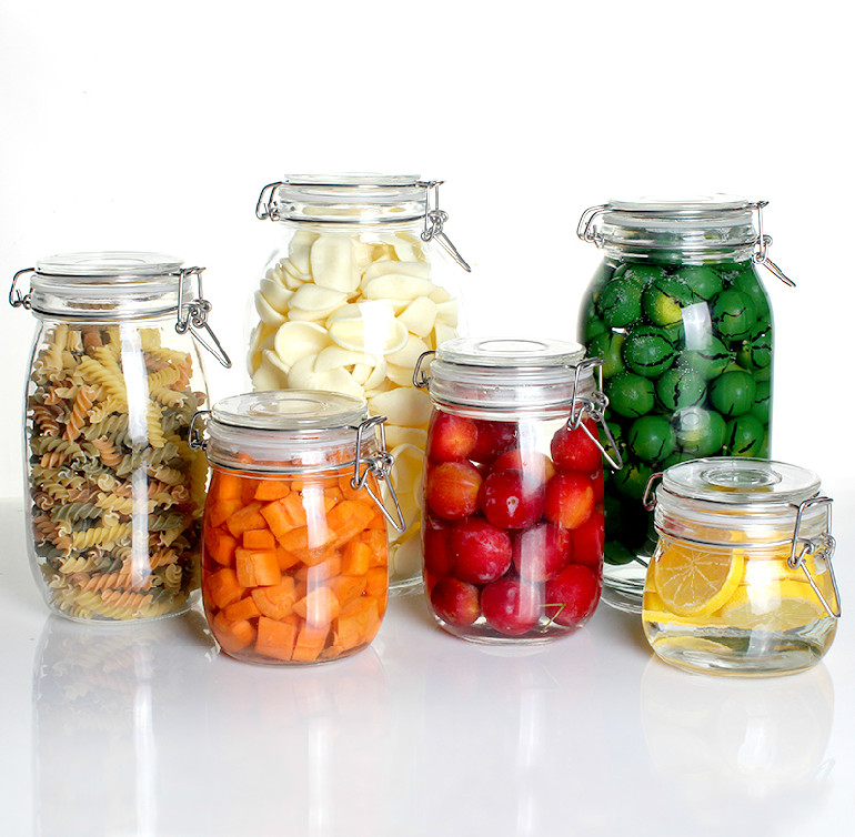 Storage jar sealed cans bottles of honey lemon milk cans of food bubble tanks dried fruit jar glass bottles pickles altar