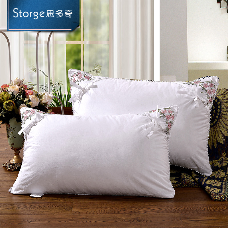 Storge/si duoqi lavender floral korean cotton lace pillow pillow pillow single azxz