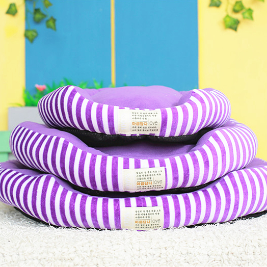 Striped sleeve round new pet nest kennel cat litter cotton nest teddy small dog kennel dog house cat house cat sofa