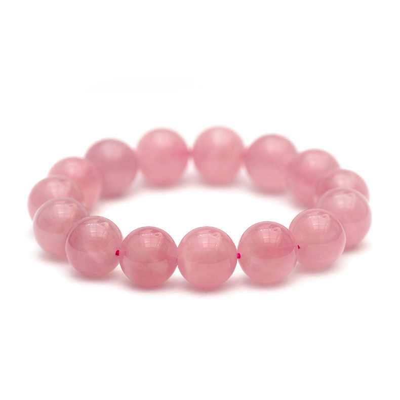 Struck the country produced natural crystal pink crystal of large particles jelly body pink crystal bracelet bracelets