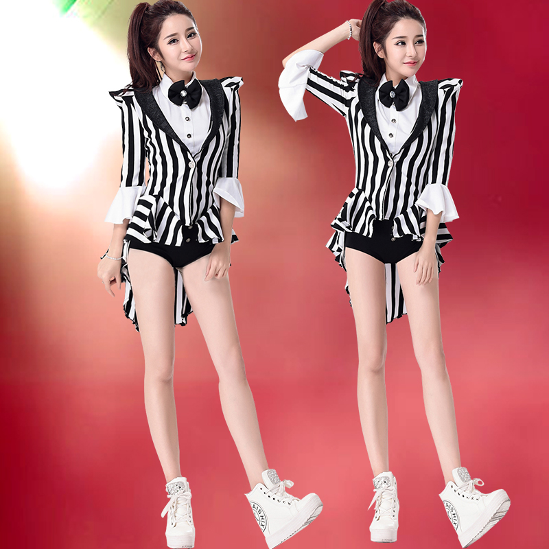 Students adult sexy temptation performance clothing stage costumes costumes ds nightclub magician tuxedo ladieswear