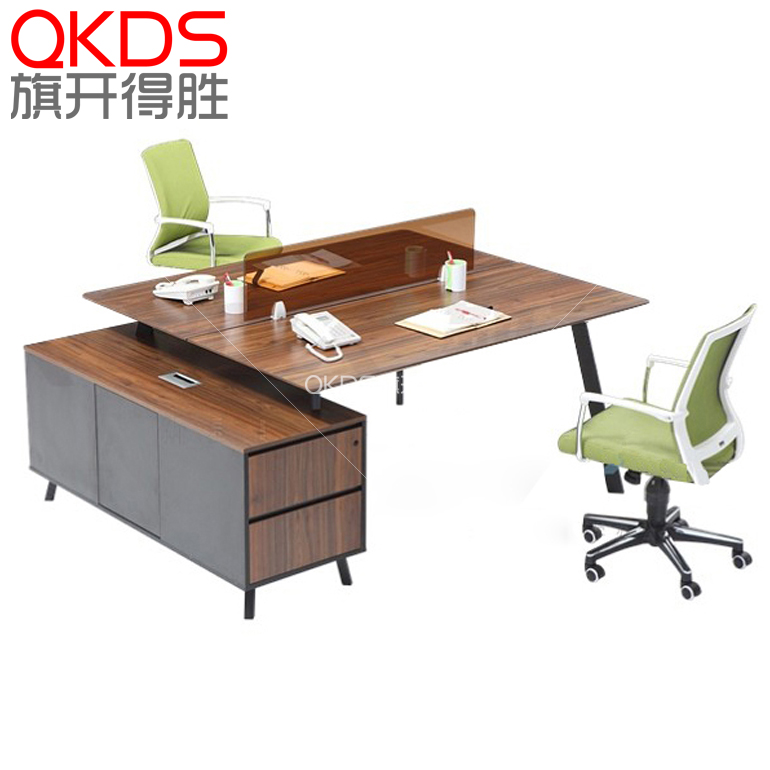 Stylish minimalist office furniture simple and 2 staff work stations desk staff office furniture combinations wall panels