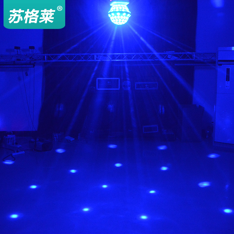 Su glèlè stage lighting led crystal magic ball effect light ktv rooms lamp light bar laser lights flash
