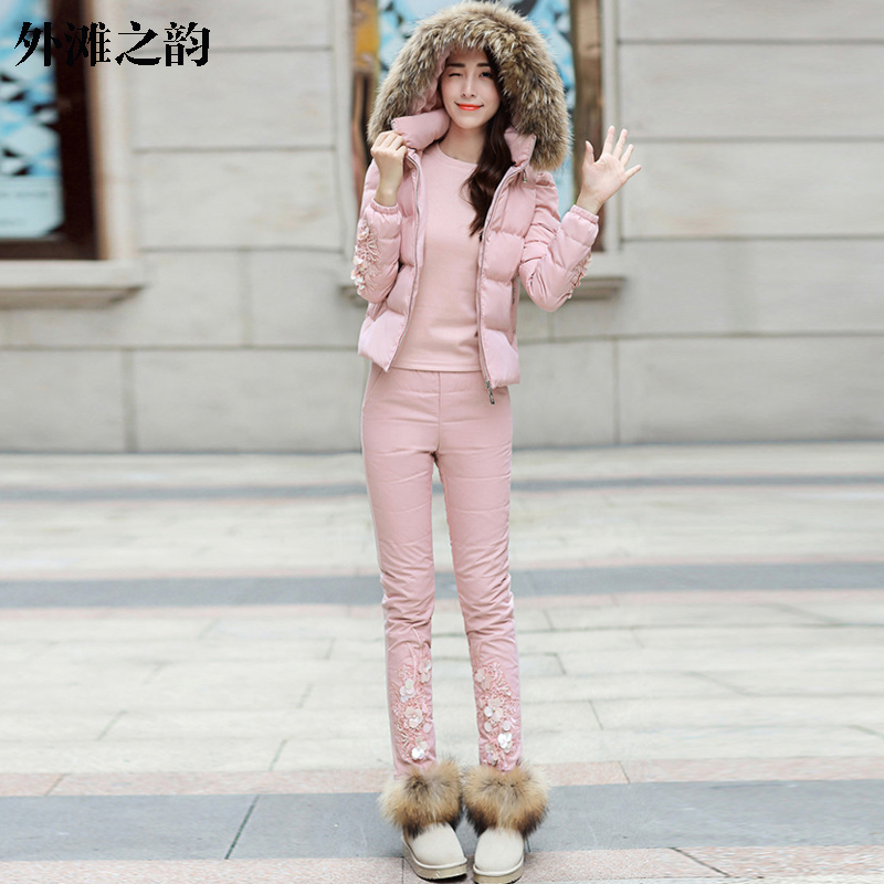 Suit coat female 2016 fall and winter clothes new cotton trousers vest three sets of female sports suit casual fashion tide