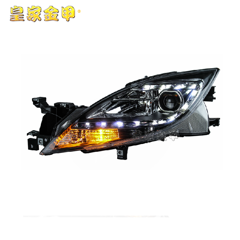 Suitable for 09-11 mazda 6 rui wing led tears headlight assembly modified bifocal lens xenon headlights